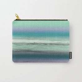 Twilight Sea in Shades of Green and Lavender Carry-All Pouch