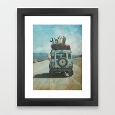 NEVER STOP EXPLORING II SUMMER EDITION Framed Art Print