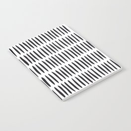 Classy Handpainted Stripes Pattern, Scandinavian Design Notebook
