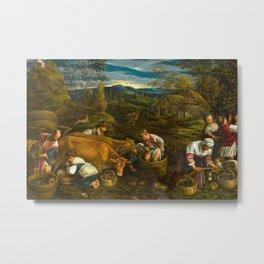 FRANCESCO BASSANO II - Autumn, with Moses Receiving the Ten Commandments Metal Print