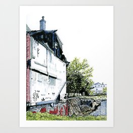 Oxford Street Vacant Lot Art Print