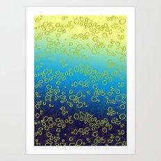 Cor∆lTextureGr∆dient Art Print
