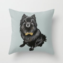 Ozzy the Pomeranian Mix Throw Pillow