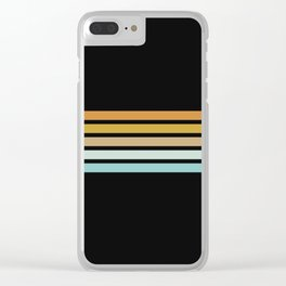 Retro Sunshine Stripes Clear iPhone Case
