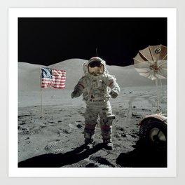 Apollo 17 - Last Man On The Moon Art Print