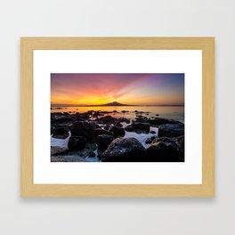 Rangitoto Island New Zealeand Framed Art Print