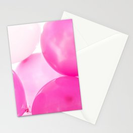 Pink Birthday Balloons Stationery Cards