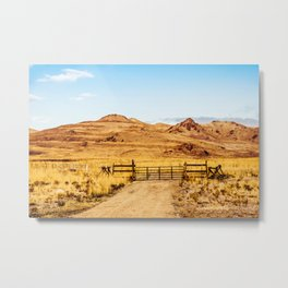 Out on the Ranch Metal Print