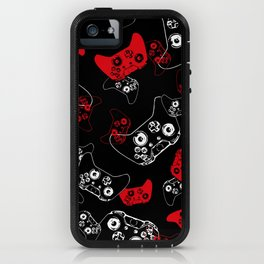 Video Game Red on Black iPhone Case
