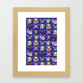 Eeveelutions Blue Framed Art Print