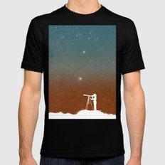 Through the Telescope Mens Fitted Tee MEDIUM Black