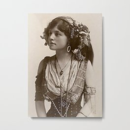 BEAUTIFUL GYPSY GIRL, Circa 1900 Metal Print