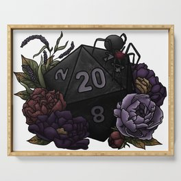 Drow D20 - Tabletop Gaming Dice Serving Tray
