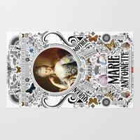 marie antoinette Area & Throw Rugs featuring Ornate Marie Antoinette by Ryan Huddle House of H