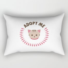 Adopt a Cat Rectangular Pillow