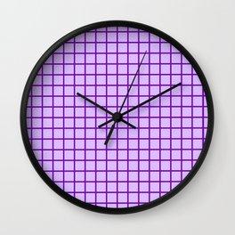 Lavender Grid Wall Clock