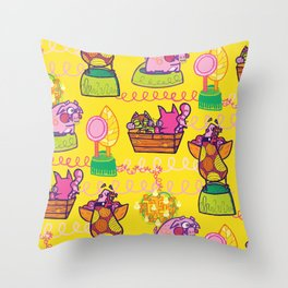 Owl and the Pussycat Throw Pillow