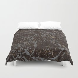 Crystallized gold stone texture Duvet Cover