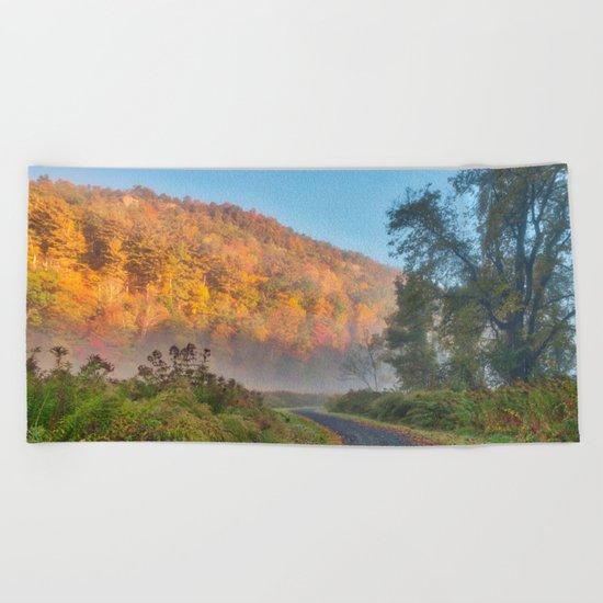 Misty Autumn McDade Trail Beach Towel
