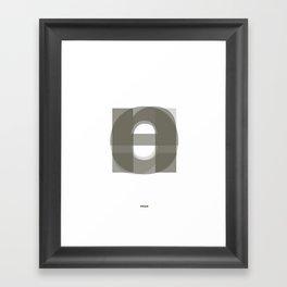 Die Neue Haas Grotesk (A-01) Framed Art Print