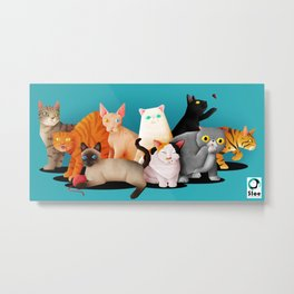 Gatos / Cats Metal Print