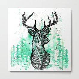Deerprint Metal Print