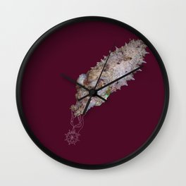 Cuttlefish untangling a necklace Wall Clock