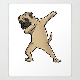 Funny Dabbing Bullmastiff Dog Dab Dance Art Print