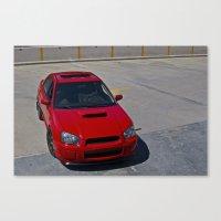 subaru Canvas Prints featuring Subaru WRX by 218studio