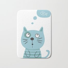 What is kitty thinking? Bath Mat