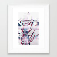 polkadot Framed Art Prints featuring 3D Polkadot by James K