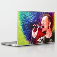 u2 Laptop & iPad Skins featuring U2 / Bono 3 by JR van Kampen