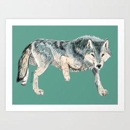 Totem Polar wolf Art Print