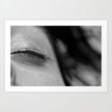 Cracked Eyeliner Art Print