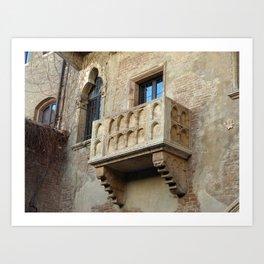 Juliet's Balcony Capulet House Verona, Italy Art Print