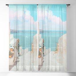 Surreal Greece #photography #travel Sheer Curtain