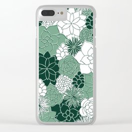 Desert Garden Clear iPhone Case