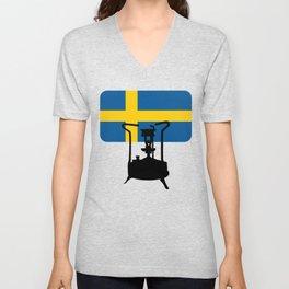 Sweden flag | Pressure stove Unisex V-Neck