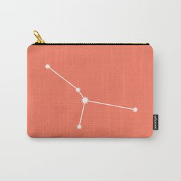 Cancer Zodiac Constellation - Coral Red Carry-All Pouch