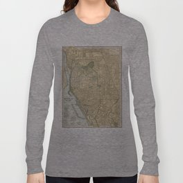 Vintage Map of Buffalo New York (1891) Long Sleeve T-shirt