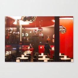Red café PARIS Canvas Print