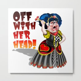 Queen of Hearts Metal Print
