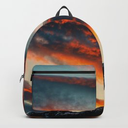 Sunset Over the Mountains (Color) Backpack