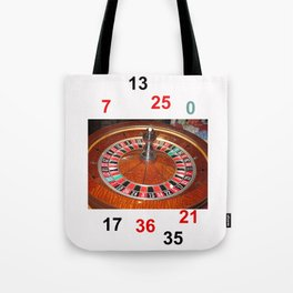 Wooden Roulette wheel casino gaming Tote Bag
