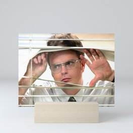 The Of-fice TV Show - Dwi-ght Schrute Print - Digital Oil Painting, Comedy, Classic, Sitcom, Funny, Series Mini Art Print