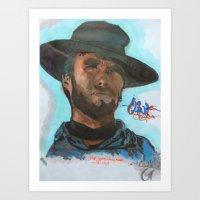 clint barton Art Prints featuring Clint by GMATZ