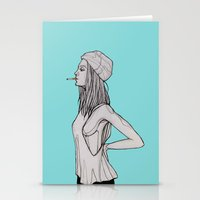 tank girl Stationery Cards featuring Tank by fossilized