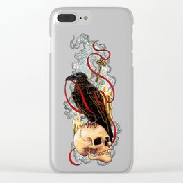 The Raven & The Key Clear iPhone Case
