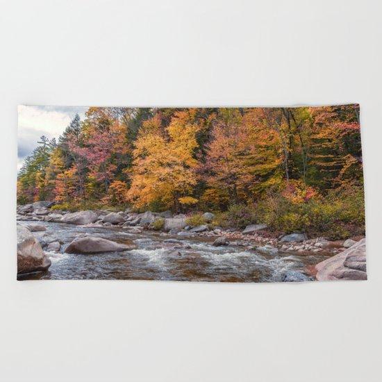 Foliage Creek Beach Towel