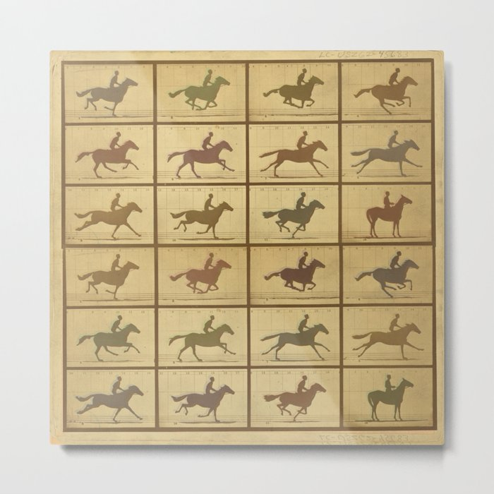 Time Lapse Motion Study Horse muted Metal Print